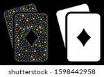 glossy mesh diamonds playing...   Shutterstock .eps vector #1598442958