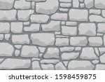 stone work. masonry made of old ... | Shutterstock .eps vector #1598459875