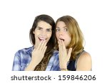 surprised women.  a couple of... | Shutterstock . vector #159846206