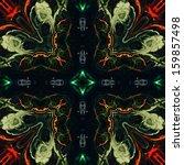art nouveau ornamental vintage... | Shutterstock . vector #159857498