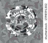 miscellaneous on grey camo...   Shutterstock .eps vector #1598591302