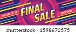 final sale promotion horizontal ... | Shutterstock .eps vector #1598672575