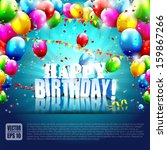 realistic colorful birthday... | Shutterstock .eps vector #159867266
