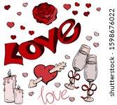 Vector Lettering Love. Festive...