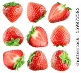 Strawberry. Fruits On White....