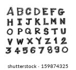 font sketch hand drawing vector ...   Shutterstock .eps vector #159874325