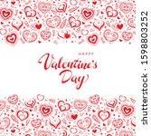 valentine's day poster. vector... | Shutterstock .eps vector #1598803252