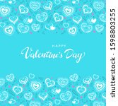 valentine's day poster. vector... | Shutterstock .eps vector #1598803255