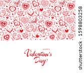 valentine's day poster. vector... | Shutterstock .eps vector #1598803258