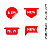 new label icons. simple design. ... | Shutterstock .eps vector #1598819095