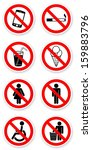 sticker of prohibited symbols... | Shutterstock . vector #159883796