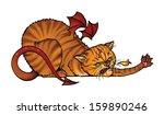 the fire breathing cat attacks... | Shutterstock .eps vector #159890246