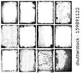 vector borders   textures x 12 | Shutterstock .eps vector #159891122