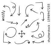 doodle vector arrow set....   Shutterstock .eps vector #1598947255