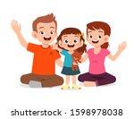 happy cute kid girl smile... | Shutterstock .eps vector #1598978038
