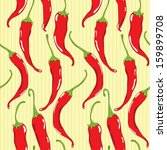 seamless pattern with red chili ... | Shutterstock . vector #159899708