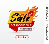hot sale banner with special... | Shutterstock .eps vector #1599020818