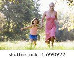 woman and young girl running... | Shutterstock . vector #15990922
