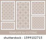 decorative panels set for laser ... | Shutterstock .eps vector #1599102715