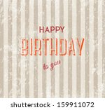 happy birthday vector retro... | Shutterstock .eps vector #159911072