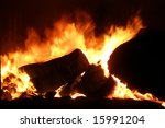fire in stove | Shutterstock . vector #15991204