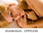 studio portrait of a blond... | Shutterstock . vector #15991336