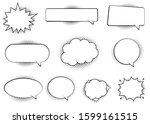 retro empty comic bubbles and... | Shutterstock .eps vector #1599161515