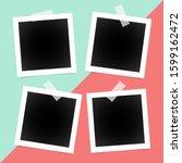 square polaroid photo frames on ... | Shutterstock .eps vector #1599162472