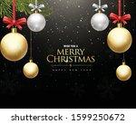 christmas vector graphics... | Shutterstock .eps vector #1599250672