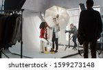 Preparations On A Backstage Of...