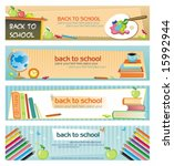 Back To School   Set Of Banner...