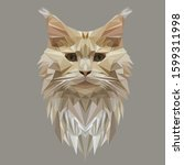 Maine Coon Cat In The Style Of...
