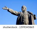 Statue of Lenin, Ala-Too Square, Bishkek,  Kyrgyzstan
