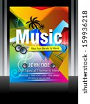 vector music flyer design... | Shutterstock .eps vector #159936218