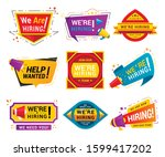 recruiting agency stickers flat ... | Shutterstock .eps vector #1599417202