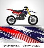 racing motorcycle wrap decal...   Shutterstock .eps vector #1599479338