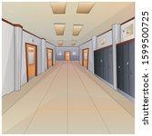 image of a school corridor.... | Shutterstock .eps vector #1599500725