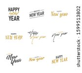 happy new year typography signs.... | Shutterstock .eps vector #1599513802