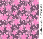 romantic pattern with pink... | Shutterstock .eps vector #159952505