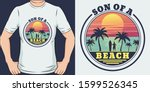 son of a beach. unique and... | Shutterstock .eps vector #1599526345