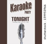 karaoke background | Shutterstock .eps vector #159953966