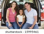 family sitting in back of van... | Shutterstock . vector #15995461