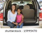 woman with young girl sitting... | Shutterstock . vector #15995470