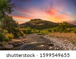 Drakensberg Valley And A River...