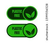 plastic free buttons set  eco... | Shutterstock .eps vector #1599556528