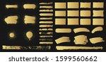 set of rectangular golden... | Shutterstock .eps vector #1599560662
