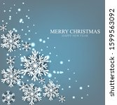 merry christmas party... | Shutterstock .eps vector #1599563092