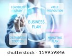 business plan concept man... | Shutterstock . vector #159959846