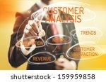 customer analysis concept man... | Shutterstock . vector #159959858