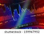 world economics graph. finance... | Shutterstock . vector #159967952
